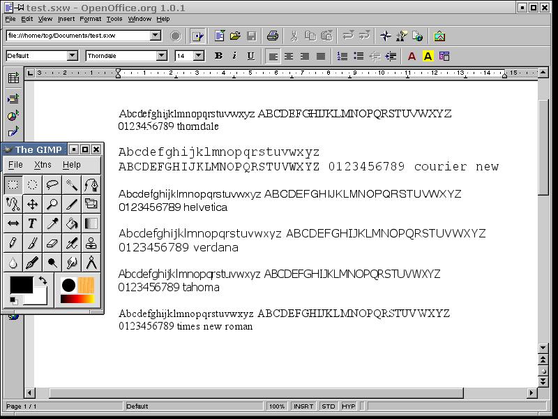 OpenNET: статья - Подключение TrueType шрифтов (font rus x11